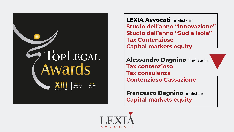 Candidature TopLegal Award 2020 Lexia Avvocati