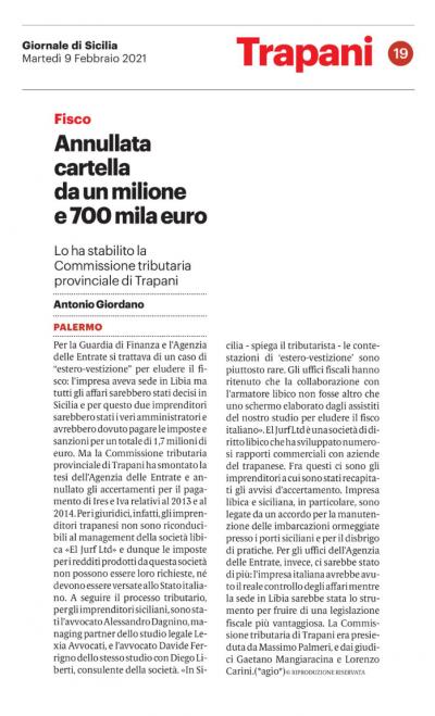 esterovestizione Lexia Avvocati Alessandro Dagnino