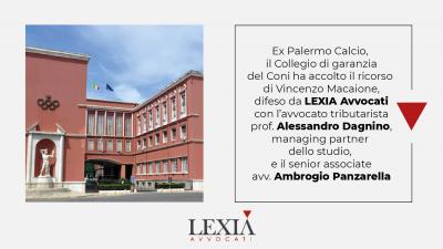 Ex Palermo Calcio, LEXIA Avvocati, Vincenzo Macaione