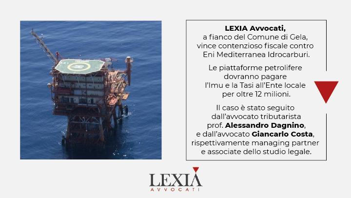 Comune Gela c. Eni Mediterranea Idrocarburi. Avvocato Alessandro Dagnino