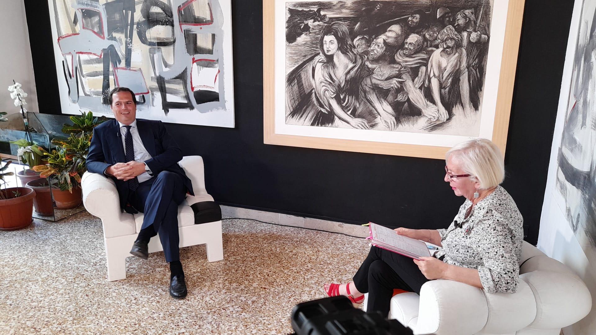 Alessandro Dagnino ospite della trasmissione Visioni l'arte di incontrarsi